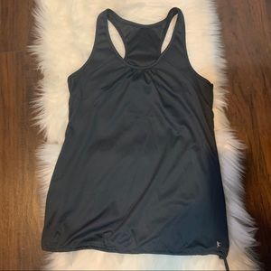 Danskin Now M(8-10) Loose Gray Sports Tank